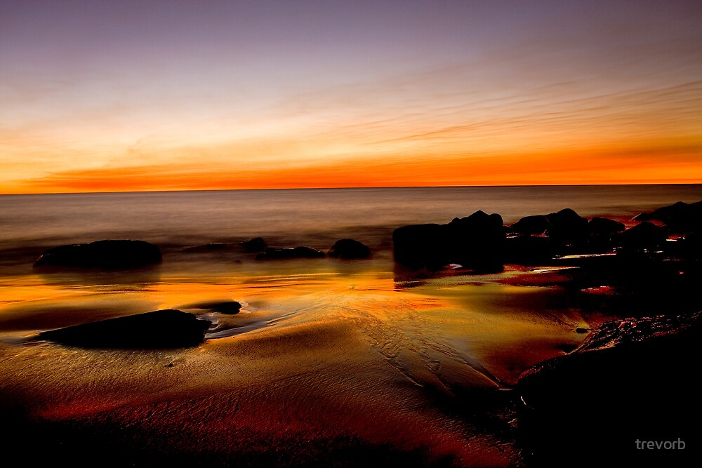 Beach Sunset. by trevorb