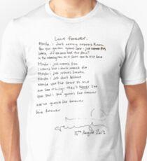 LIVE FOREVER - (handwritten - NG) Unisex T-Shirt