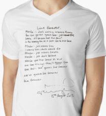 LIVE FOREVER - (handwritten - NG) Men's V-Neck T-Shirt