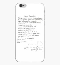 LIVE FOREVER - (handwritten - NG) iPhone Case