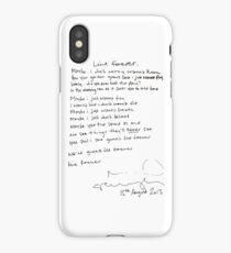 LIVE FOREVER - (handwritten - NG) iPhone Case/Skin