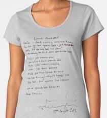LIVE FOREVER - (handwritten - NG) Women's Premium T-Shirt