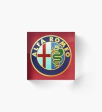 Alfa Romeo - Classic Car Logos Acrylic Block
