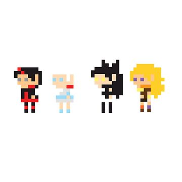 8-Bit RWBY by PacificaOcean