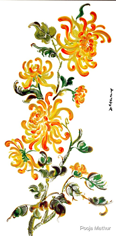Yellow Chrysanthemums by Pooja Mathur