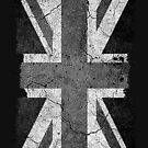 Grunge Black and White Union Jack by Steve Crompton