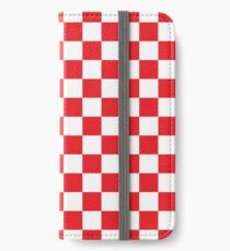 Red Checkered Pattern iPhone Wallet/Case/Skin