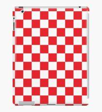 Red Checkered Pattern iPad Case/Skin