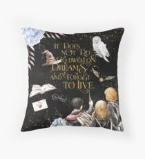 To Dwell on Dreams Throw Pillow