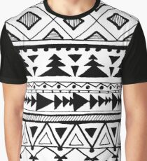 Tribal Mexican Aztec style pattern  Graphic T-Shirt