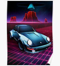 Porsche 911 - Neon Mesa Desert Poster
