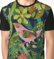 Three pink birds Graphic T-Shirt