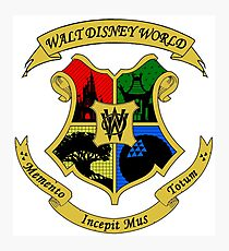 Hogwarts WDW Crossover Crest Photographic Print