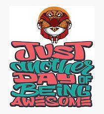 Foodietoon Superhero Donut / Awesome Day Photographic Print