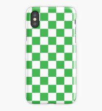 Green Checkered Pattern iPhone Case/Skin