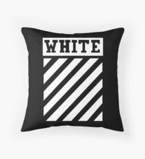white white lines Throw Pillow