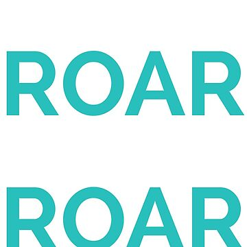 Roar- white and blue by NYMinuteMag