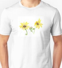 Happy Little Sunflowers Watercolor T-Shirt