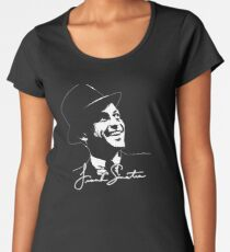 Frank Sinatra - Portrait and signature Women's Premium T-Shirt