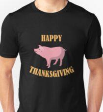 Funny Happy Thanksgiving Pig T-Shirt