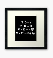 Maxwell's Equations Framed Print