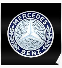 Classic Car Logos: Mercedes-Benz Poster