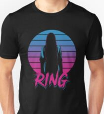 RING GIRL HORROR halloween ALIEN EIGHTEES 1980 STYLE COLORFUL T-Shirt