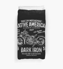 Custom Motorcycle Retro Vintage Duvet Cover