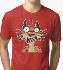 funny cartoon ginger cat. More in my gallery Tri-blend T-Shirt