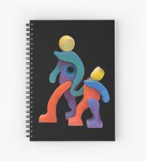 Joyful Spirit - Transparent Border Spiral Notebook