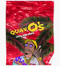 QuavO's Cereal Red Poster