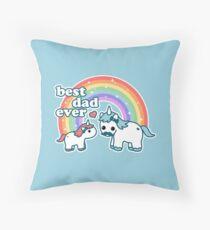 Best Unicorn Dad Throw Pillow