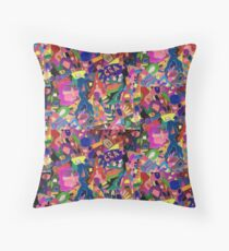 THE CRAZY REPEATS Throw Pillow