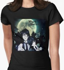 Black Butler night! Women's Fitted T-Shirt