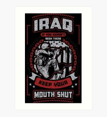 Iraq War Veteran Art Print