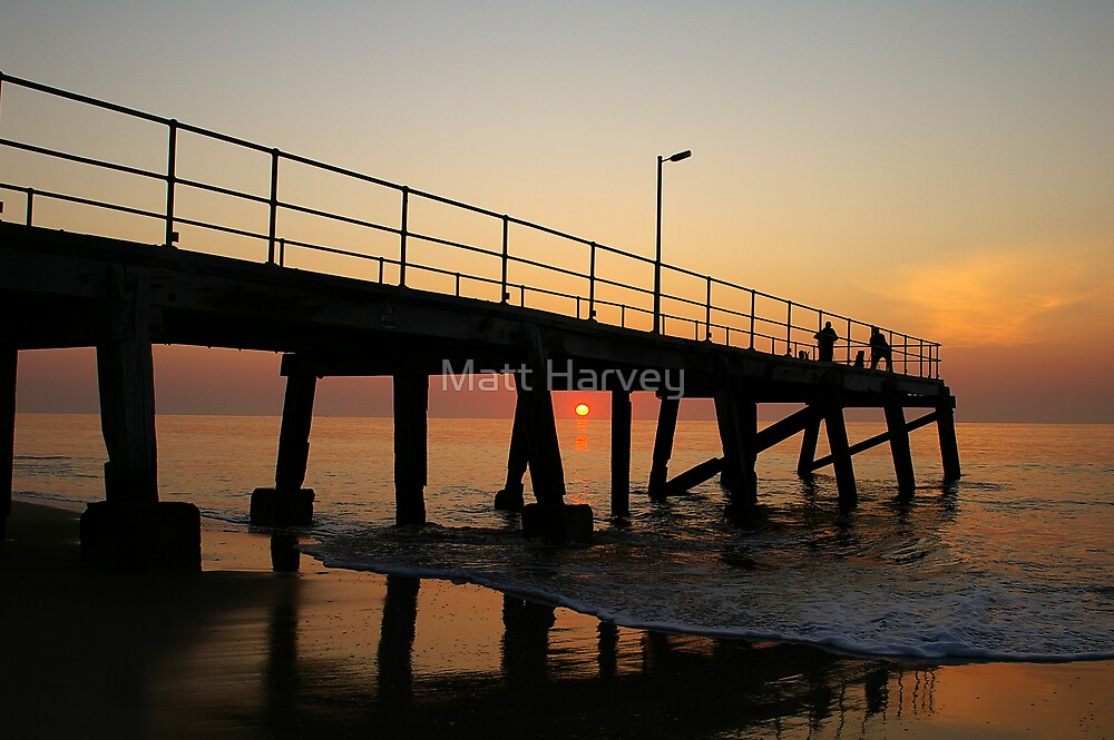 Normanville Jetty sunset by Matt Harvey
