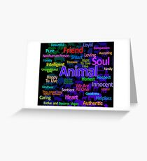 ANIMAL WORD CLOUD, Greeting Card