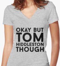 Tom Hiddleston Women's Fitted V-Neck T-Shirt