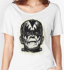 FranKISStein Frankengene Rock Monster BW Women's Relaxed Fit T-Shirt