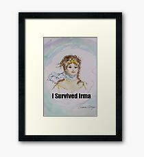 I Survived Irma Framed Art Print