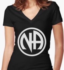 Narcotics Anonymous White Women's Fitted V-Neck T-Shirt