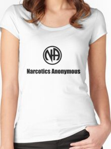 Narcotics Anonymous Small Black Women's Fitted Scoop T-Shirt
