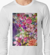 Colorful Spring Floral Patterns - Cool Purple Girly Designs T-Shirt