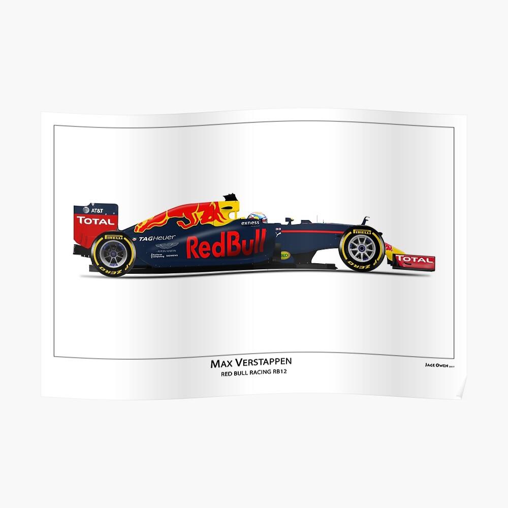 Max Verstappen - RB12 Poster