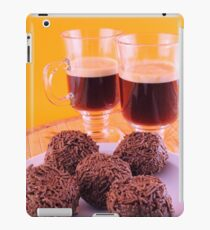 Coffee for two with delicious chocolate truffles iPad Case/Skin