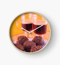 Coffee for two with delicious chocolate truffles Clock