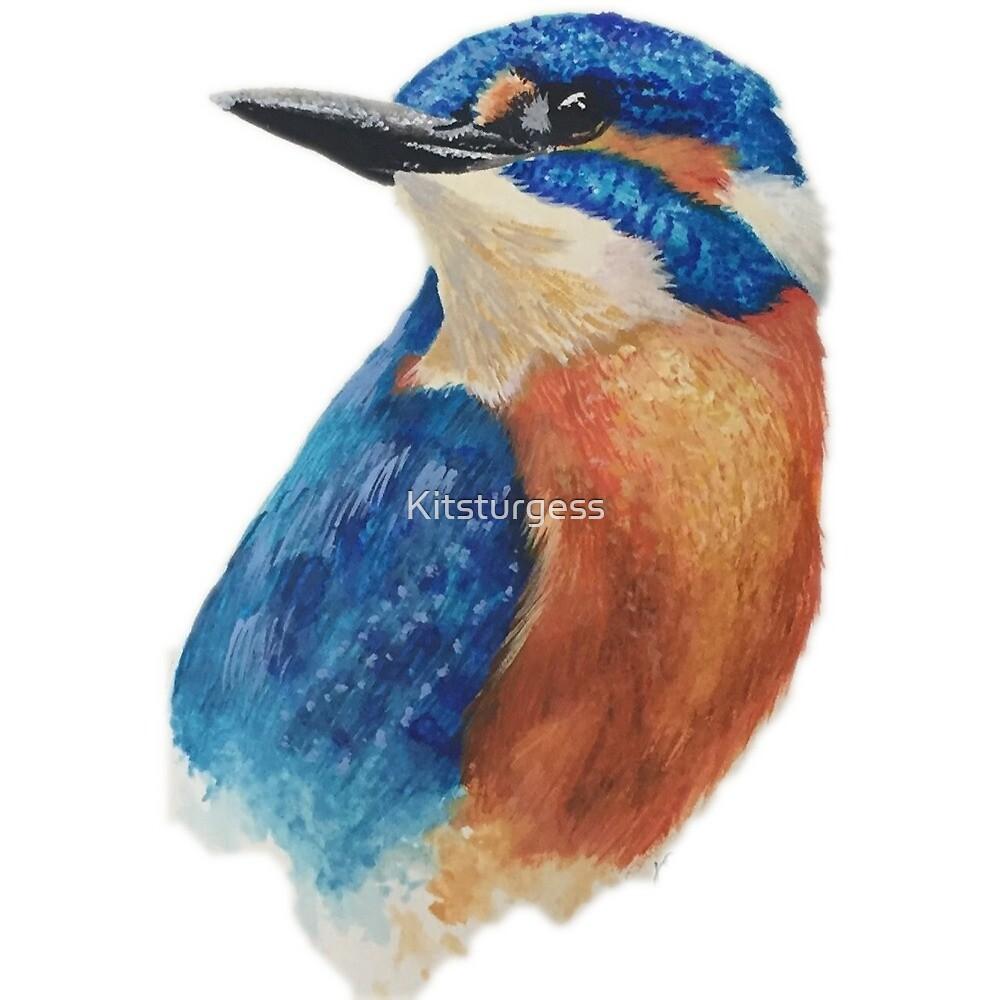 Watercolour Kingfisher by Kitsturgess