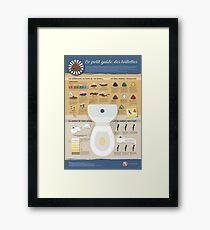 The toilet guide Framed Print