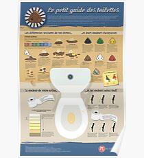 Le guide des toilettes Poster