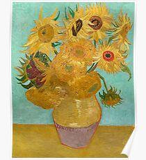 Vase with Twelve Sunflowers by Vincent Van Gogh 1889  Poster
